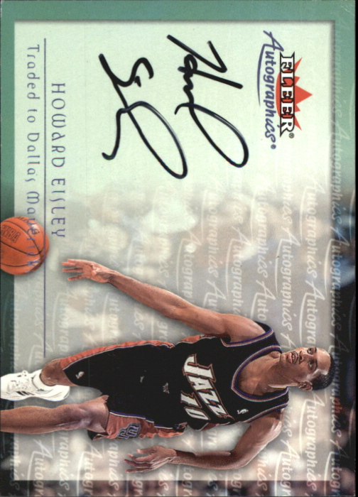 2000-01 Fleer Autographics #60 Howard Eisley