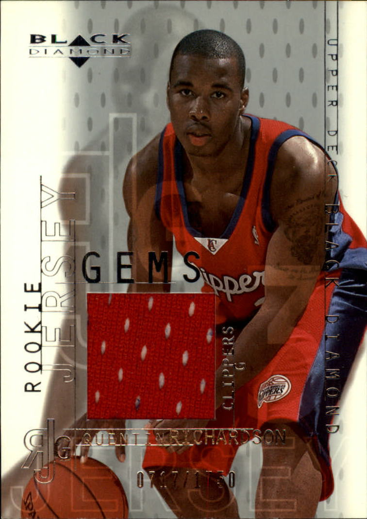 2000-01 Black Diamond #124 Quentin Richardson JSY RC