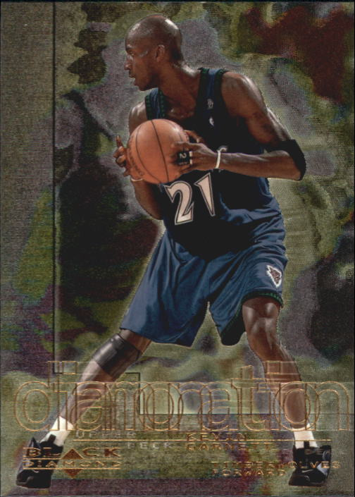 2000-01 Black Diamond Diamonation #D4 Kevin Garnett