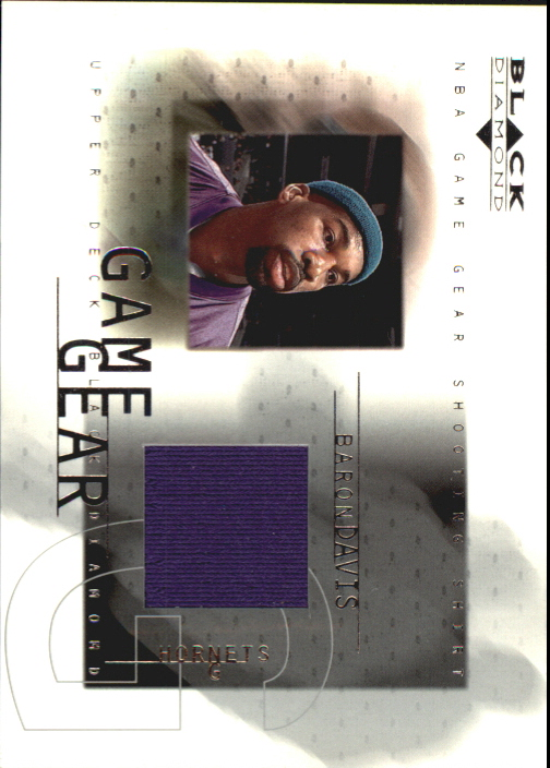2000-01 Black Diamond Game Gear #BD Baron Davis