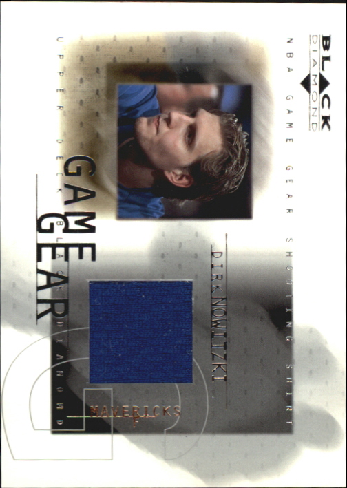 2000-01 Black Diamond Game Gear #DN Dirk Nowitzki