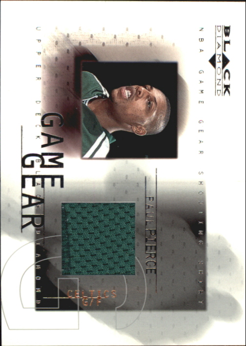 2000-01 Black Diamond Game Gear #PP Paul Pierce