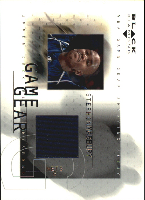 2000-01 Black Diamond Game Gear #SM Stephon Marbury