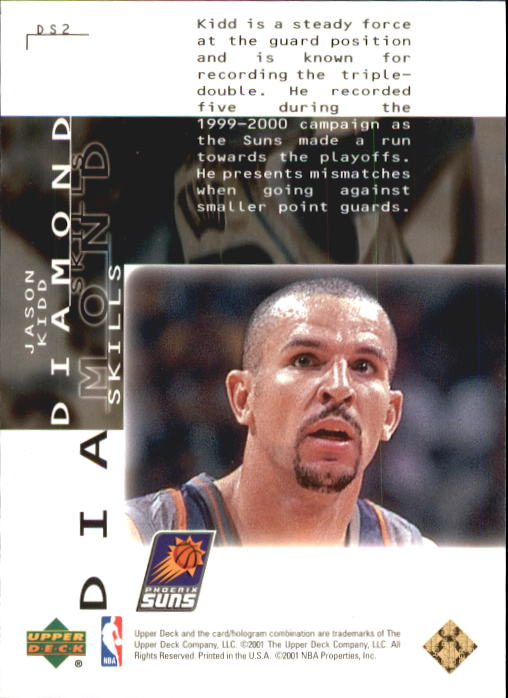 2000-01 Black Diamond Skills #DS2 Jason Kidd back image