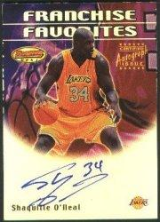 2000-01 Bowman's Best Franchise Favorites #FFA1 Shaquille O'Neal AU