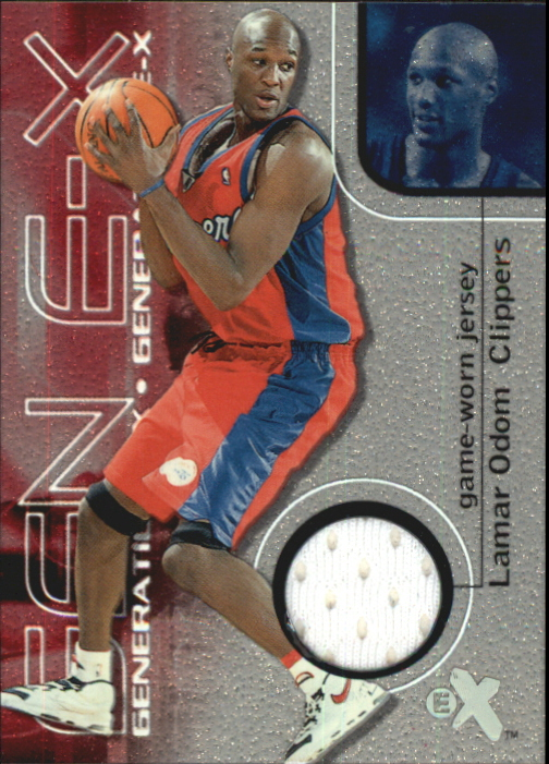 2000-01 E-X Generation E-X Game Jerseys #GE3 Lamar Odom