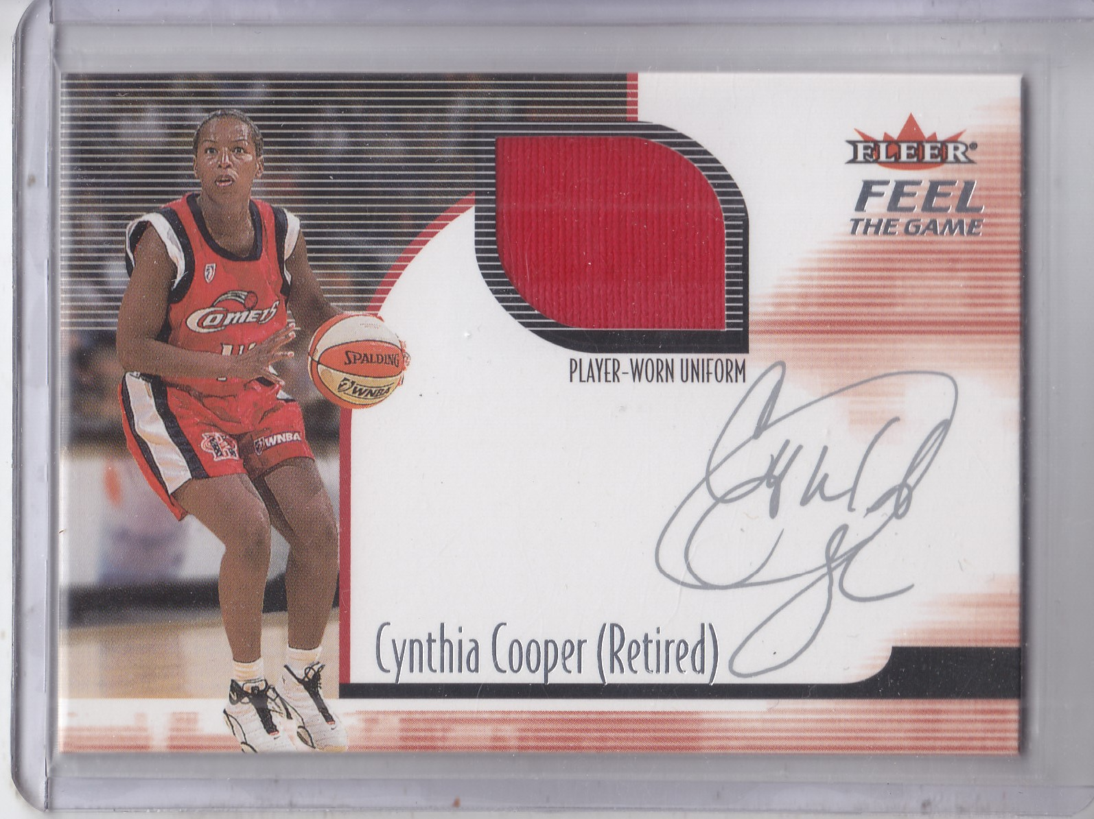 2001 Ultra WNBA Feel the Game #2 Cynthia Cooper