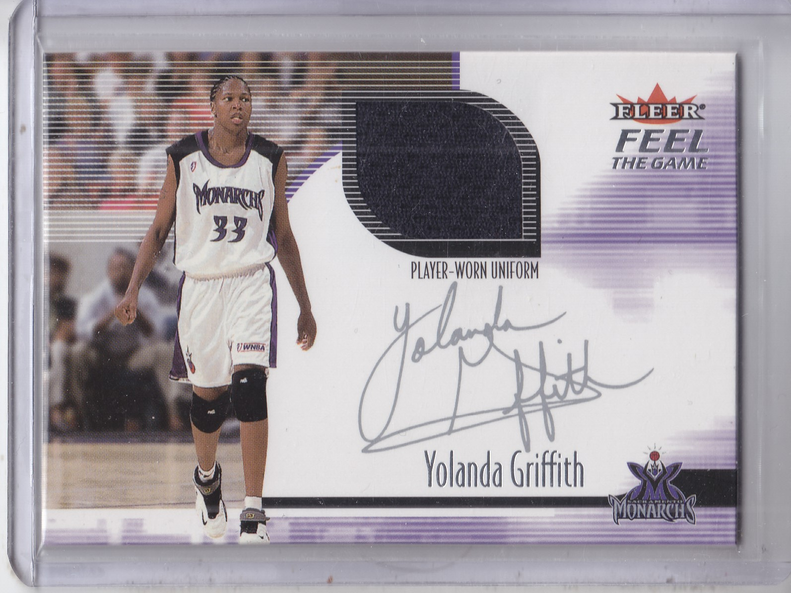 2001 Ultra WNBA Feel the Game #3 Yolanda Griffith