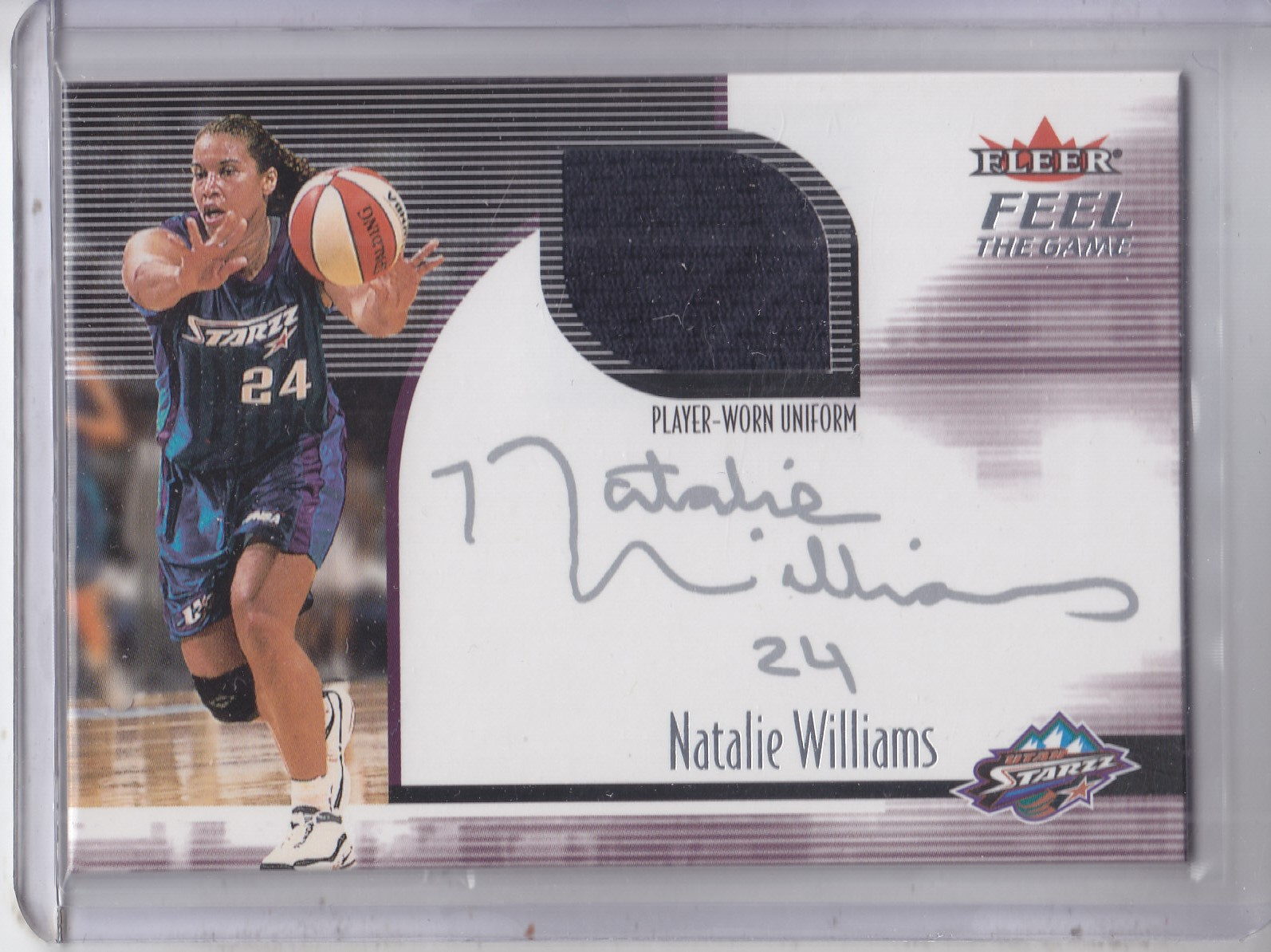 2001 Ultra WNBA Feel the Game #6 Natalie Williams
