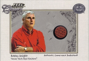 2001 Greats of the Game Feel the Game Classics #21 Bobby Knight Ball