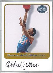 2001 Greats of the Game Autographs #1 Kareem Abdul-Jabbar