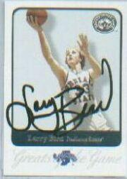 2001 Greats of the Game Autographs #9 Larry Bird/200