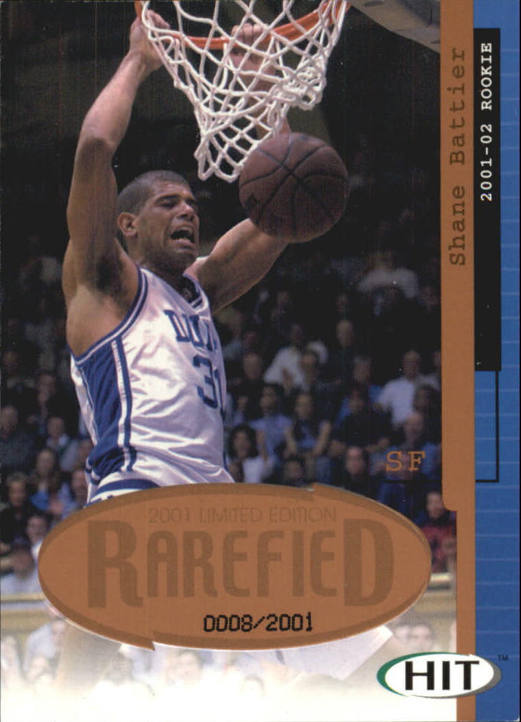 2001 SAGE HIT Rarefied Bronze #R2 Shane Battier