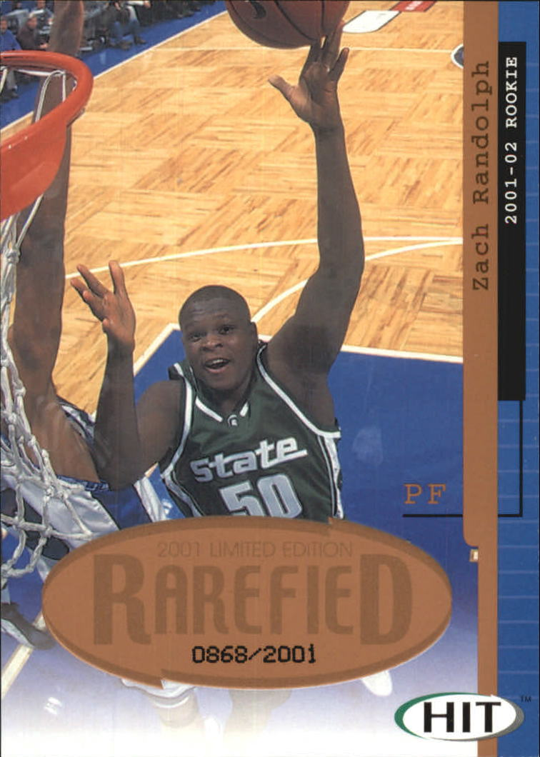 2001 SAGE HIT Rarefied Bronze #R22 Zach Randolph