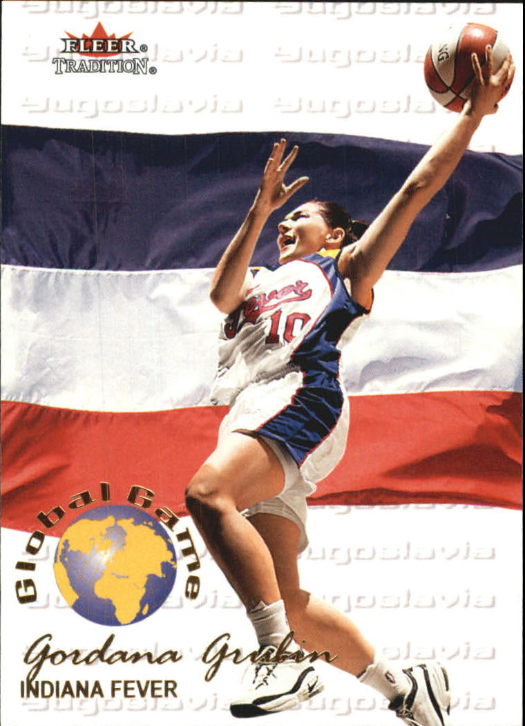 2001 Fleer WNBA Global Game #GG6 Gordana Grubin