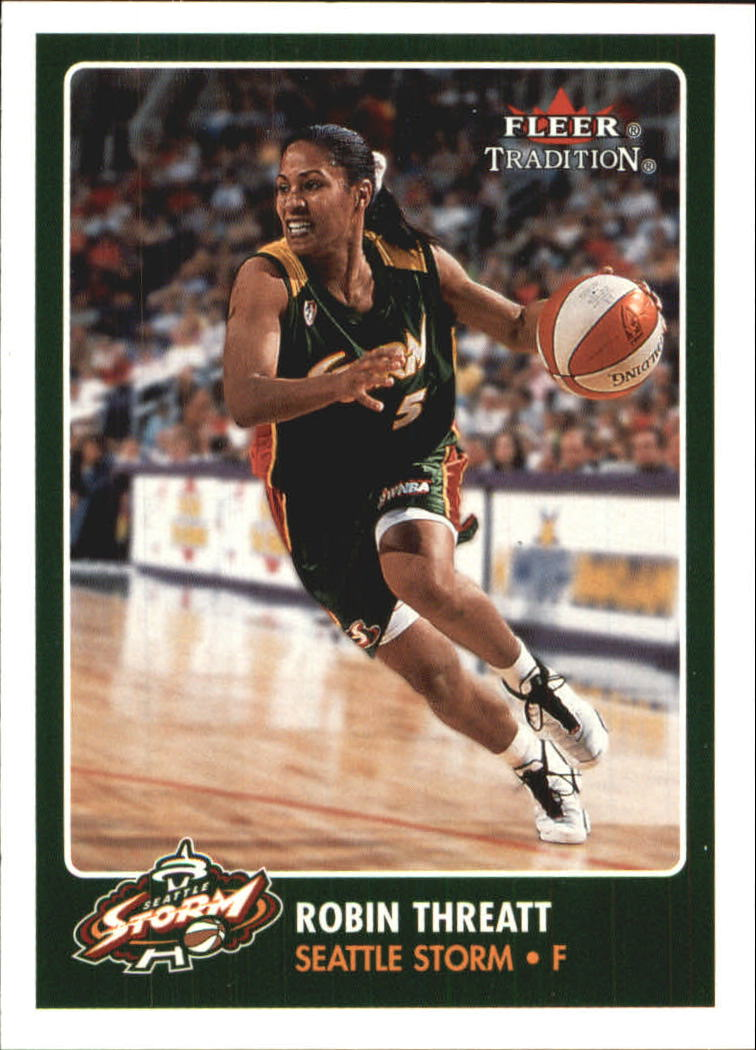 2001 Fleer WNBA #66 Robin Threatt RC
