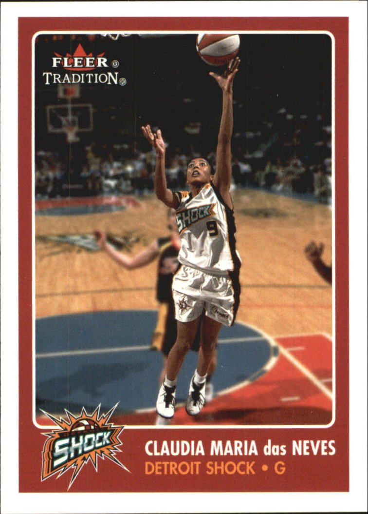 2001 Fleer WNBA #67 Claudia Maria das Neves RC