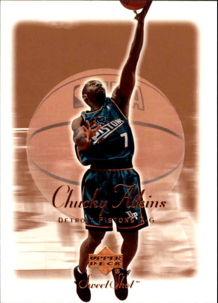 2001-02 Sweet Shot #23 Chucky Atkins
