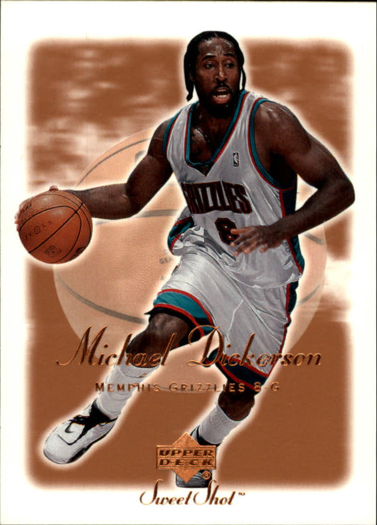 2001-02 Sweet Shot #44 Michael Dickerson
