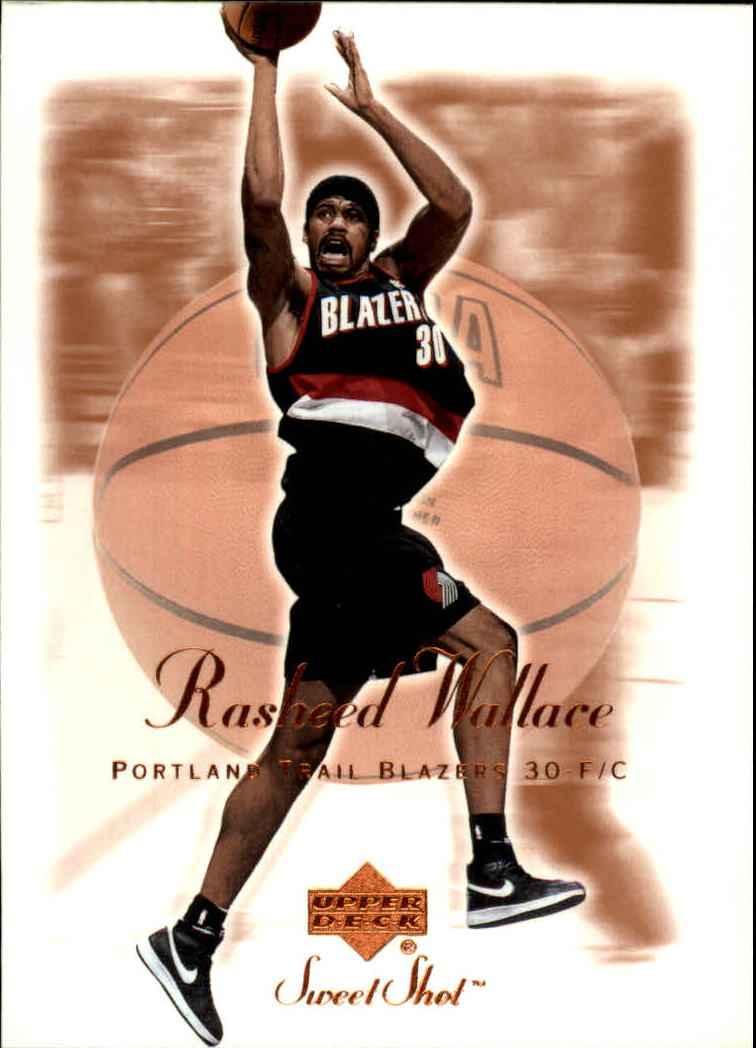 2001-02 Sweet Shot #70 Rasheed Wallace