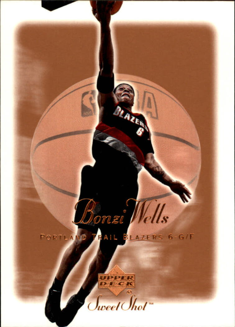 2001-02 Sweet Shot #72 Bonzi Wells