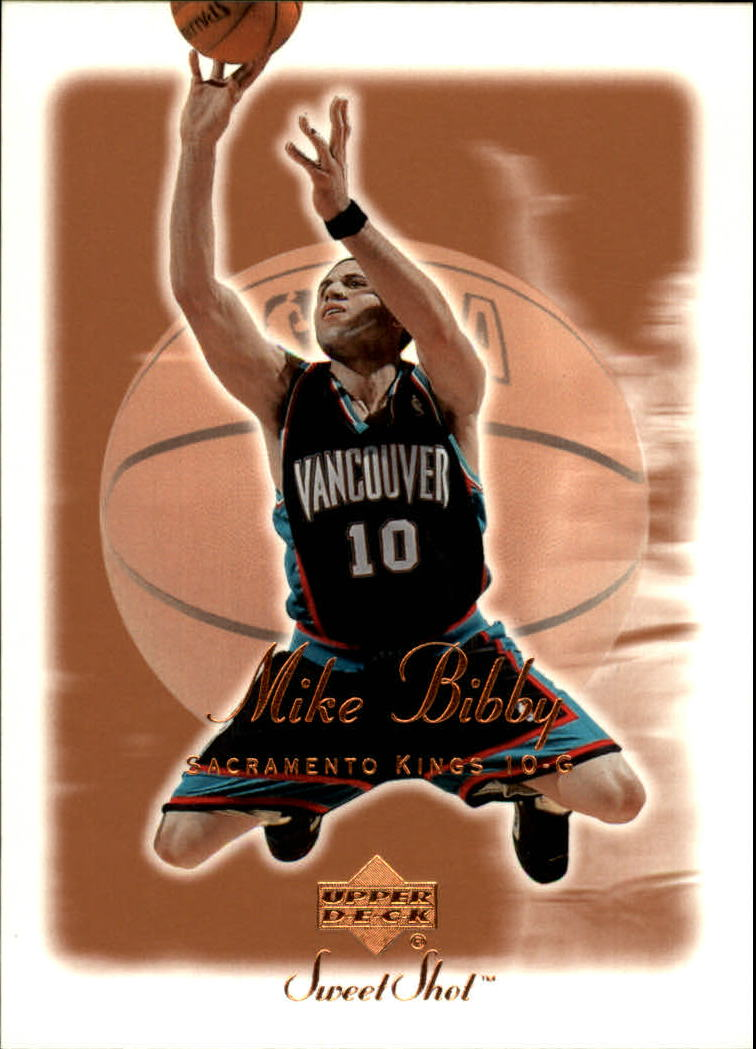 2001-02 Sweet Shot #75 Mike Bibby