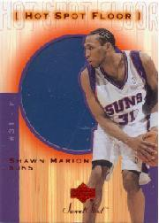 2001-02 Sweet Shot Hot Spot Floor #SHF Shawn Marion