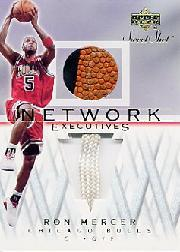 2001-02 Sweet Shot Network Executives #RMN Ron Mercer