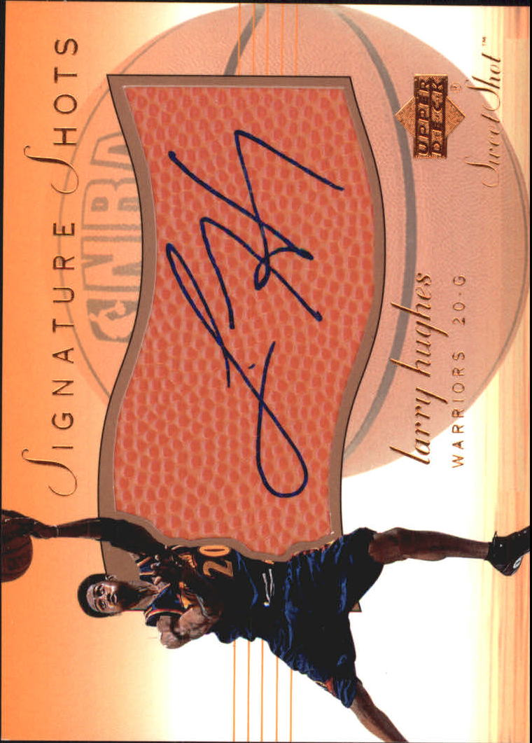 2001-02 Sweet Shot Signature Shots #LHS Larry Hughes