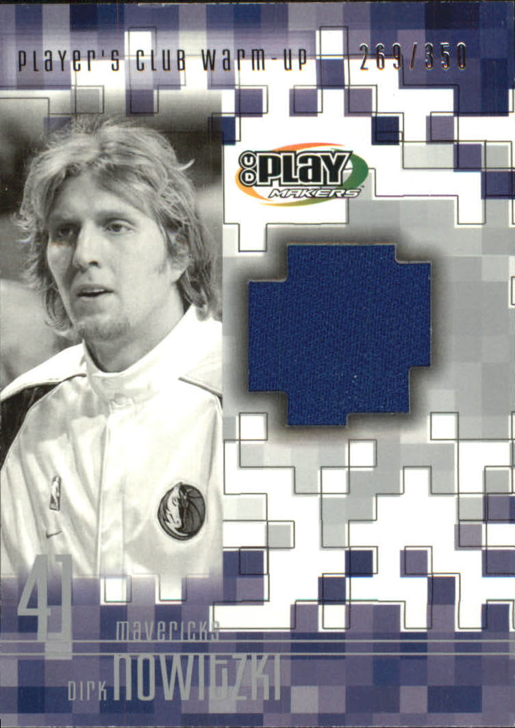 2001-02 Upper Deck Playmakers PC Warm Up #DNW Dirk Nowitzki