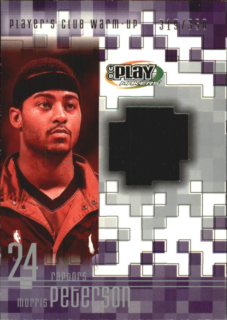 2001-02 Upper Deck Playmakers PC Warm Up #MPW Morris Peterson