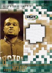 2001-02 Upper Deck Playmakers PC Warm Up Gold #AWGW Antoine Walker