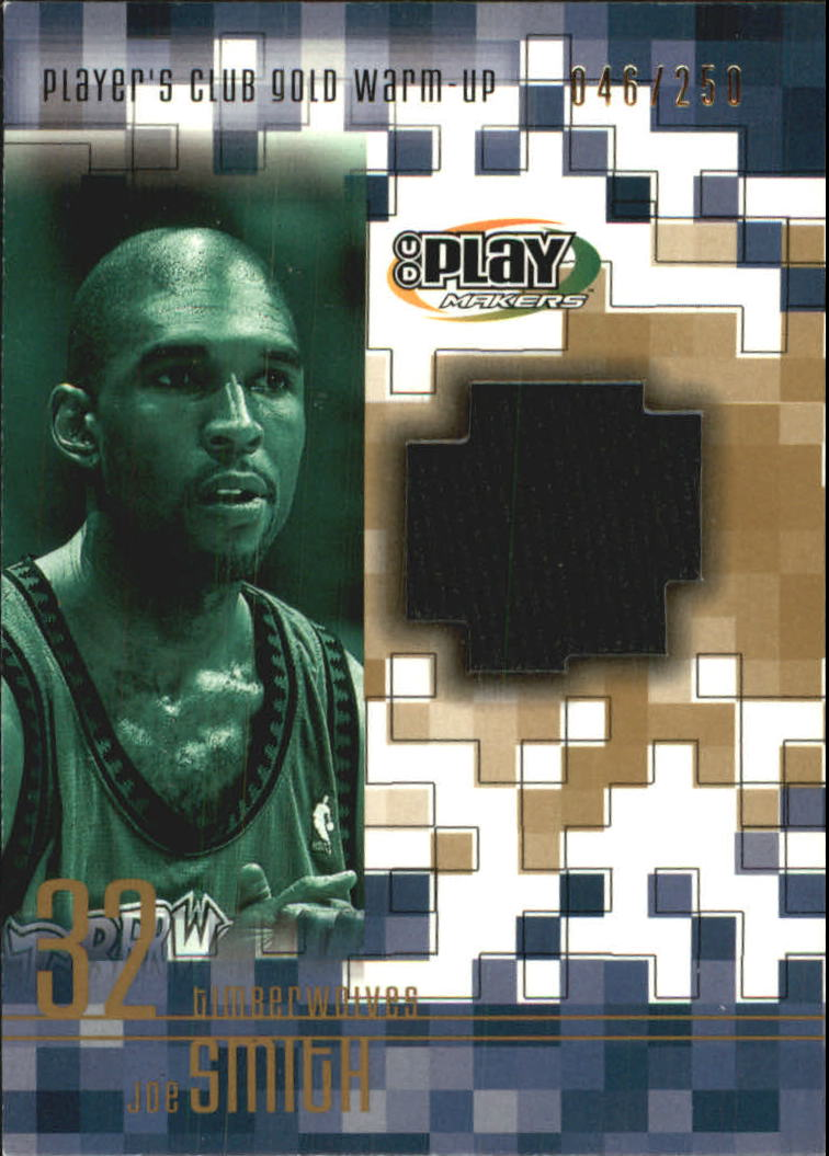2001-02 Upper Deck Playmakers PC Warm Up Gold #JSGW Joe Smith