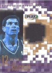 2001-02 Upper Deck Playmakers PC Warm Up Gold #STGW John Stockton