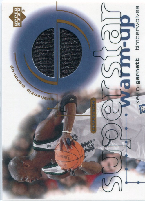 2001-02 Upper Deck Ovation Superstar Warm-Ups #KG Kevin Garnett