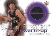 2001-02 Upper Deck Ovation Superstar Warm-Ups #ST John Stockton