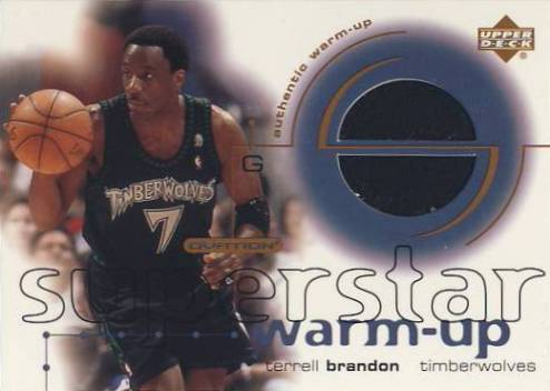 2001-02 Upper Deck Ovation Superstar Warm-Ups #TB Terrell Brandon