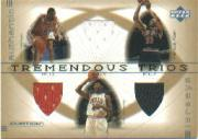 2001-02 Upper Deck Ovation Tremendous Trios #RMRAJC Ron Mercer/Ron Artest/Marcus Fizer