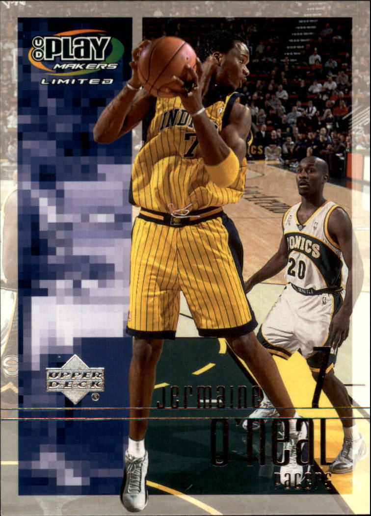 2001-02 Upper Deck Playmakers #34 Jermaine O'Neal