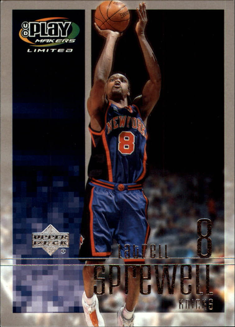 2001-02 Upper Deck Playmakers #63 Latrell Sprewell