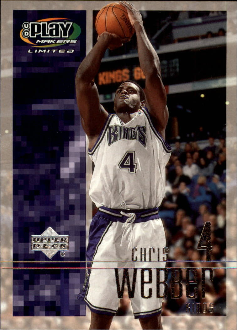 2001-02 Upper Deck Playmakers #80 Chris Webber