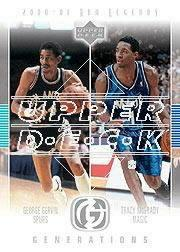 2001-02 Upper Deck Legends Generations #G7 George Gervin/Tracy McGrady