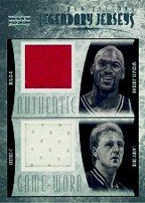 2001-02 Upper Deck Legends Legendary Jerseys #MJ/LBJ Michael Jordan/Larry Bird