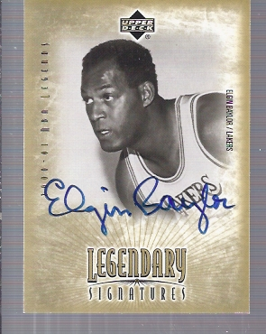2001-02 Upper Deck Legends Legendary Signatures #EB Elgin Baylor