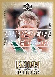 2001-02 Upper Deck Legends Legendary Signatures #LB Larry Bird SP