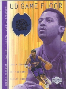 2001-02 Upper Deck Hardcourt UD Game Floor #MP Morris Peterson