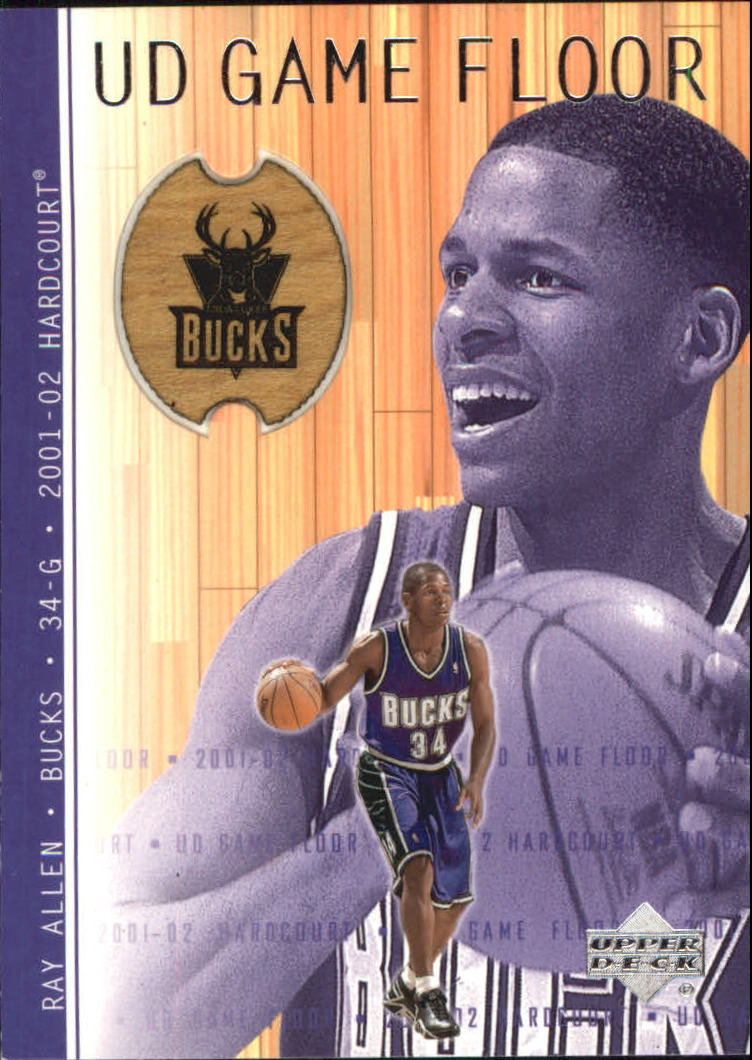 2001-02 Upper Deck Hardcourt UD Game Floor #RA Ray Allen