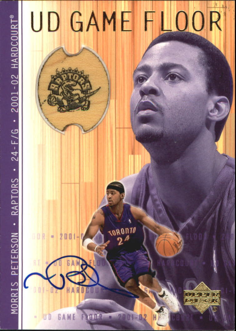 2001-02 Upper Deck Hardcourt UD Game Floor Autographs #MPA Morris Peterson