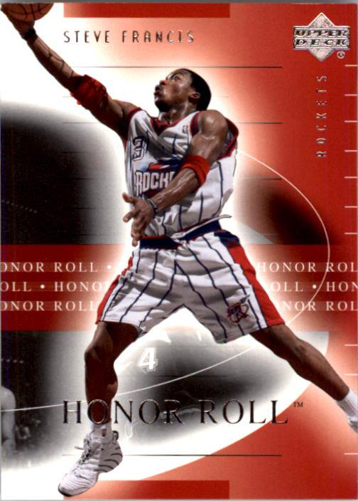 2001-02 Upper Deck Honor Roll #28 Steve Francis front image