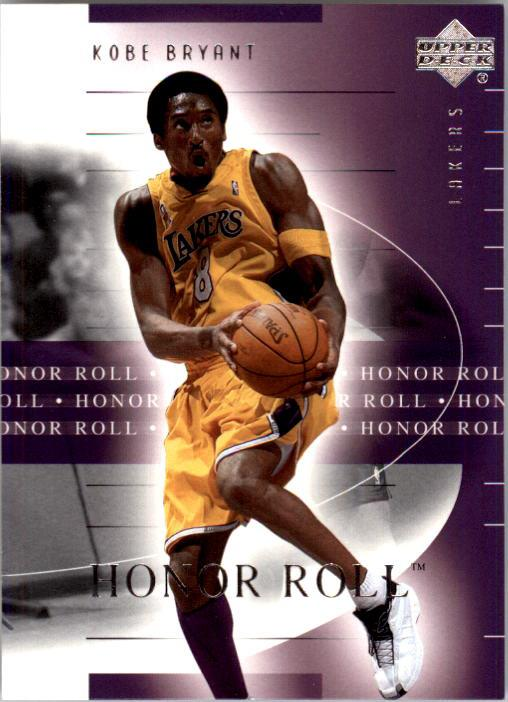 2001-02 Upper Deck Honor Roll #38 Kobe Bryant front image
